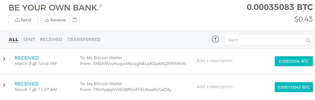 Wild Bitcoin first payment proof blockchain
