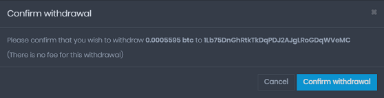 coinpot bitcoin withdraw to wallet confirm 1