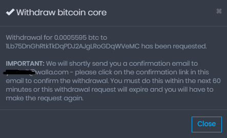 coinpot bitcoin withdraw to wallet email confirm 1
