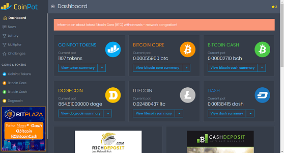 coinpot dashboard 1