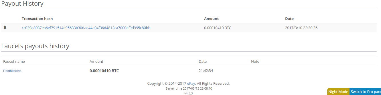 ePay payment proof field bitcoin