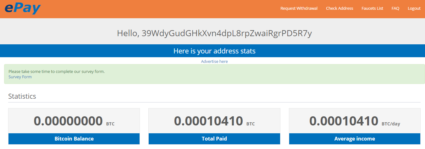 ePay withdrawal confirmed field bitcoin