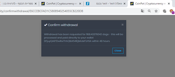 moondogecoin 1168doge payment proof coinpot dogecoin withdrawal confirm